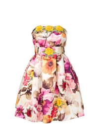 Vestito svasato a fiori bianco di Philipp Plein