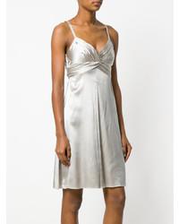 Vestito svasato argento di Armani Collezioni