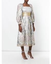 Vestito svasato argento di William Vintage