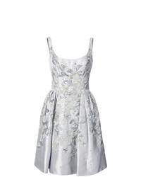 Vestito svasato decorato argento di Marchesa