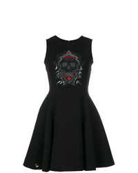 Vestito svasato decorato nero di Philipp Plein