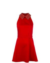 Vestito svasato decorato rosso di Philipp Plein
