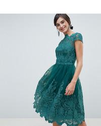 buy popular f501d fe9a2 Vestiti di pizzo verde scuro da donna | Moda donna | Lookastic