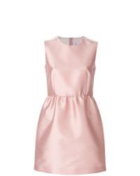 Vestito svasato di raso rosa