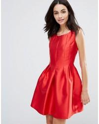 quality design 293d0 1f005 Vestiti svasati di raso rossi da donna | Moda donna | Lookastic