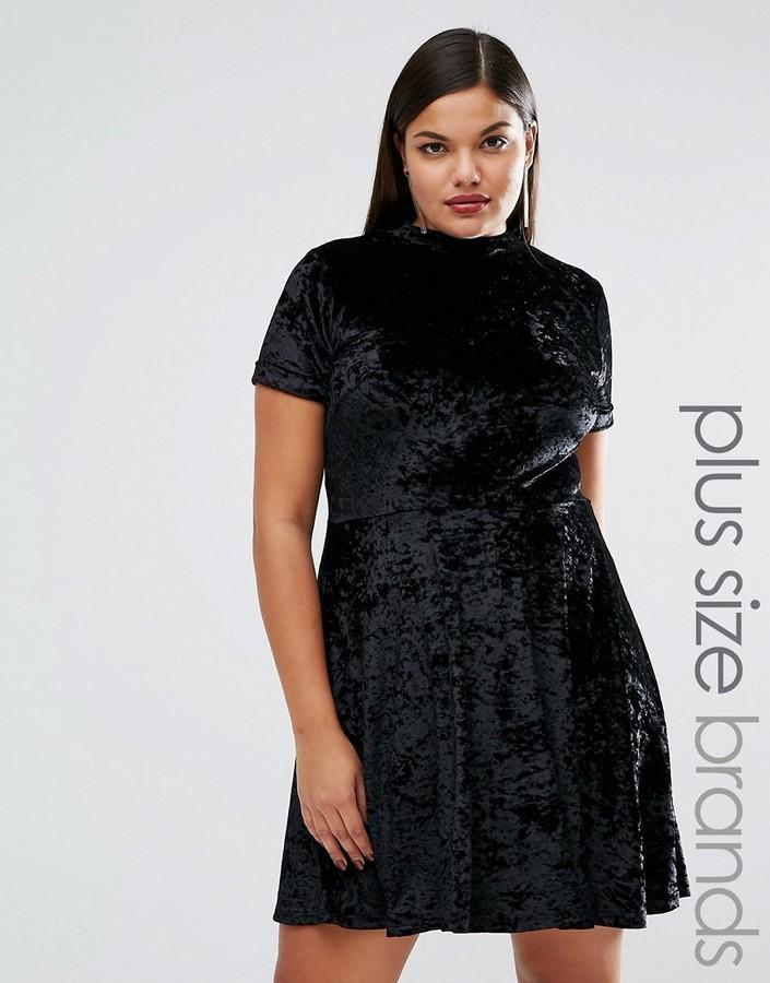 size 40 55313 07a31 €41, Vestito svasato di velluto nero