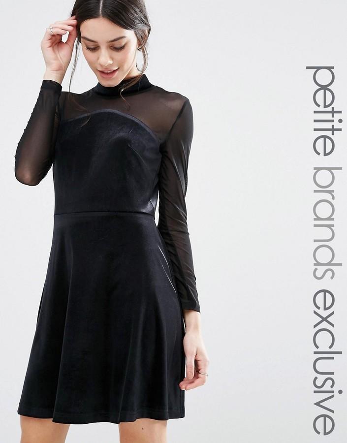 new style 100e0 e8719 €27, Vestito svasato di velluto nero