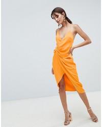 Vestito tubino di seta arancione di ASOS DESIGN