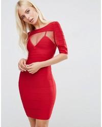 Vestito tubino in rete rosso di Forever Unique