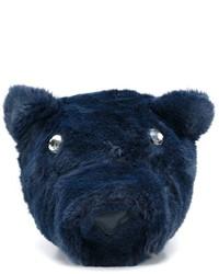 Zaino di pelliccia blu scuro di Stella McCartney