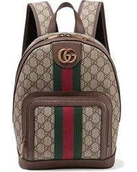 Zaino di tela marrone di Gucci