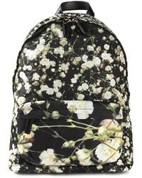 Zaino di tela stampato nero e bianco di Givenchy