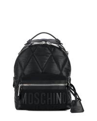 Zaino in nylon trapuntato nero di Moschino