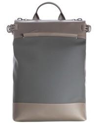Zaino in pelle grigio