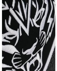 Zaino in pelle nero e bianco