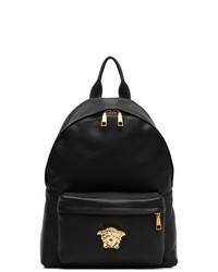 Zaino in pelle nero di Versace
