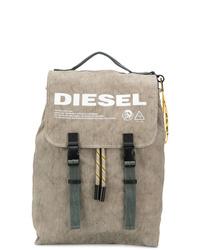 Zaino stampato marrone chiaro di Diesel