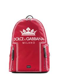 Zaino stampato rosso di Dolce & Gabbana