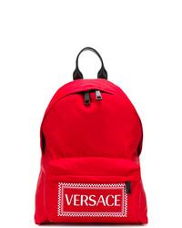 Zaino stampato rosso di Versace